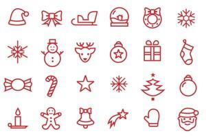 Новогодние иконки бесплатно free new year icons