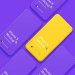 iphone X мокап бесплатно psd смарт слои apple mockup smartphone hi resolution free