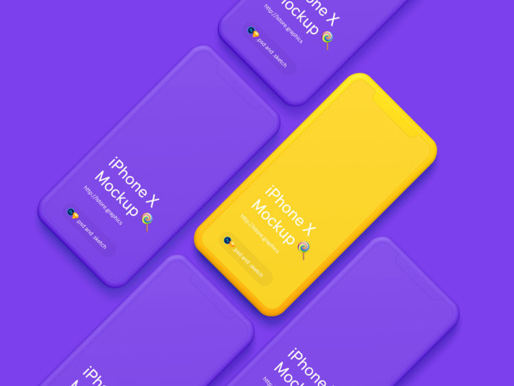 iphone X мокап бесплатно psd смарт слои apple mockup smartphone hi resolution free