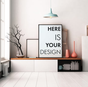 мокап картины постера в интерьере бесплатно free poster interior mockup art