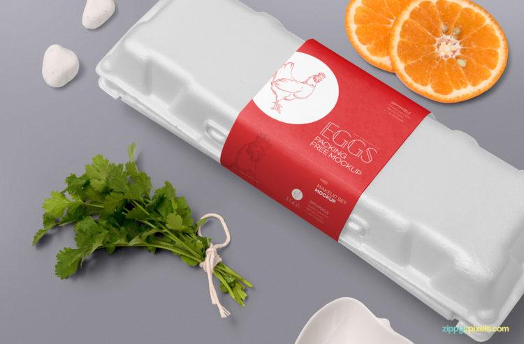 дизайн упаковки яиц макет брендинг скачать psd