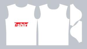 векторная выкройка футболки для печати и дизайна psd