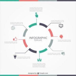Инфографика круговая диаграмма