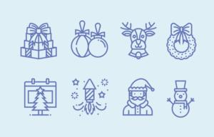 Бесплатный иконка вектор новый год
