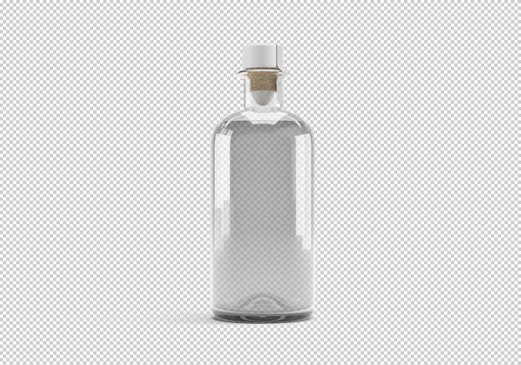 бесплатный мокап бутылки для оливкового масла