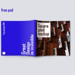 квадратный буклет бесплатно мокап psd
