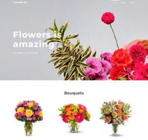 лендинг пейдж магазина цветов бесплатно скачать html