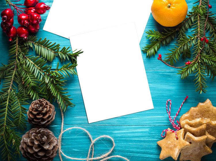 Новогодний мокап бесплатно скачать free new year mockup