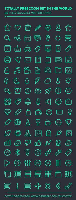 112 иконок в векторе пакет скачать все на тему компьютеры