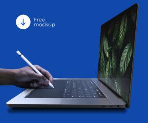мокапы бесплатно скачать ноутбук для вставки дизайна psd высокое разрешение