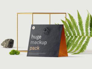 брендинг сумка пакет мокап бесплатный