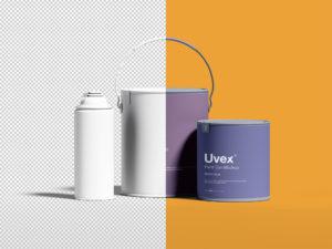 мокап упаковки краски бесплатно