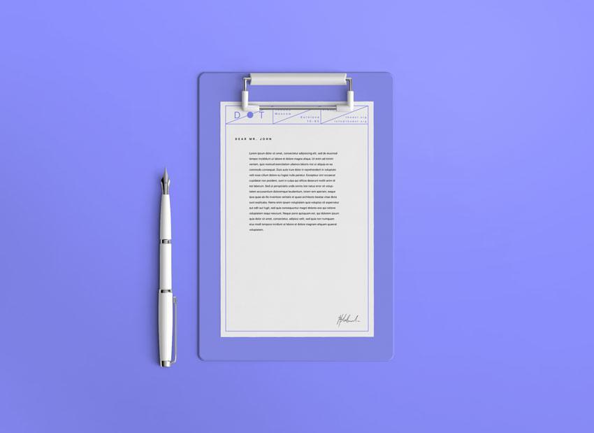 letterhead free psd mockup