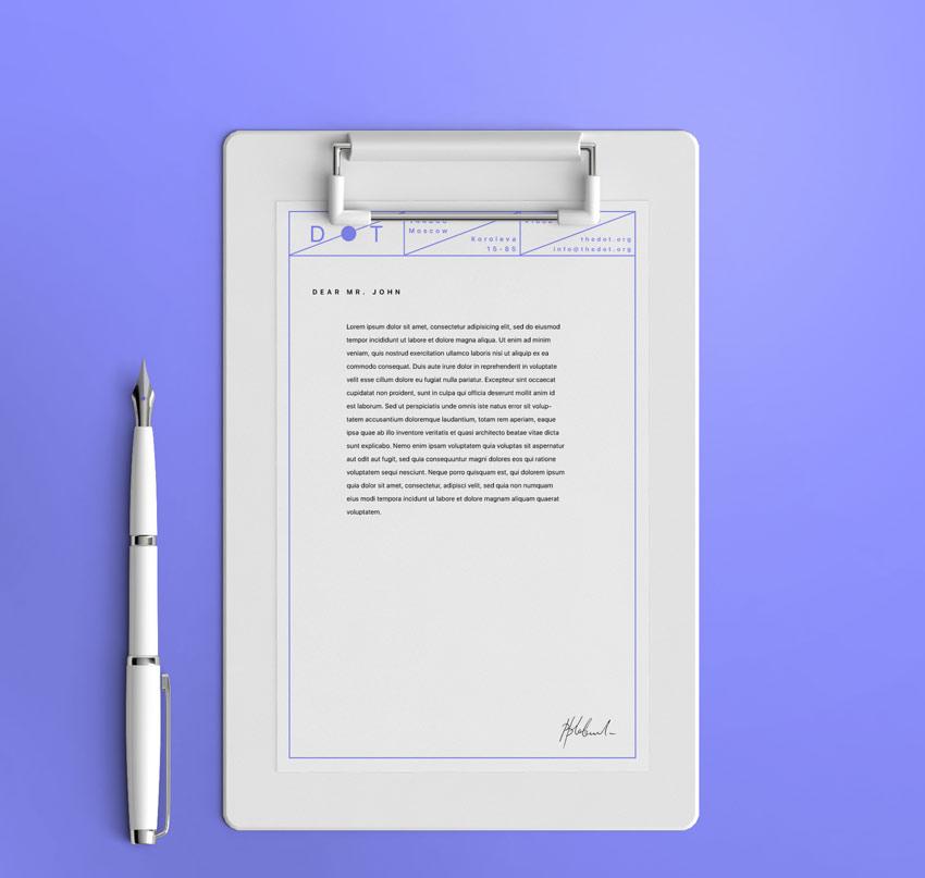 letterhead mockup free