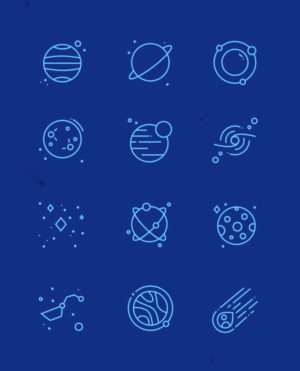 иконки космос планеты вектор бесплатно