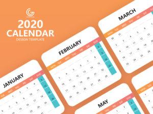 календарь шаблон 2020 бесплатно скачать psd calendar