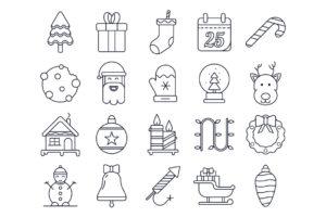 20 новогодних иконок