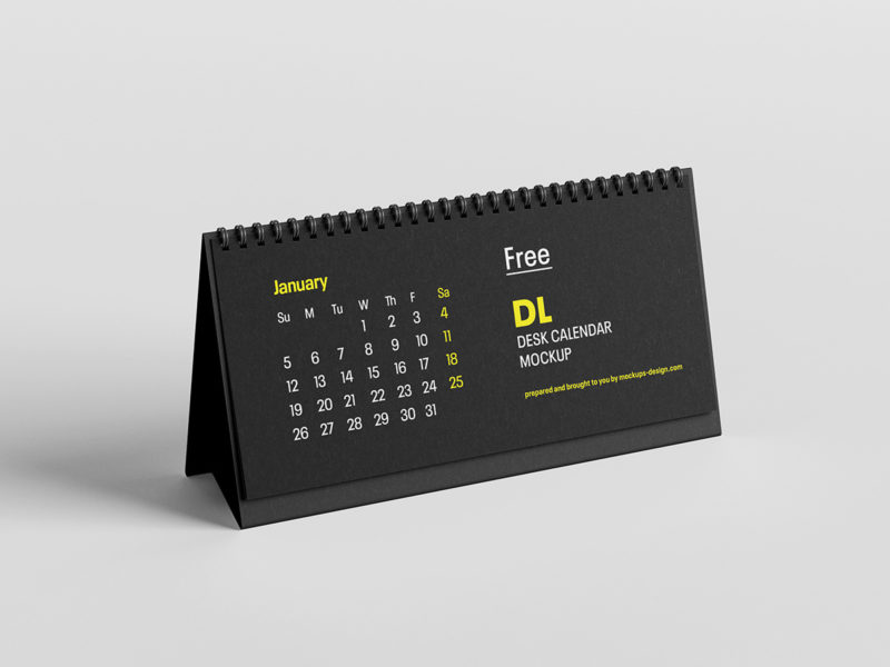 мокап настольного календаря скачать бесплатно