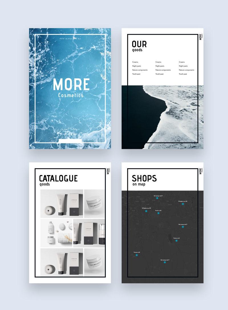 шаблон каталога, шаблон буклета, a4, косметика, здоровье, туризм, красота