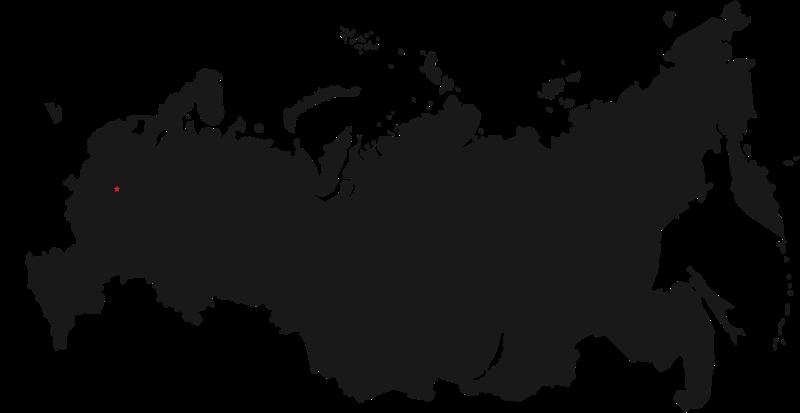 шаблон карты России бесплатно