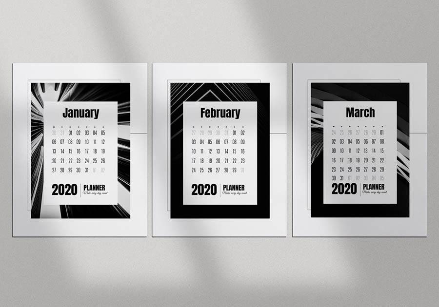 календарная сетка и шаблон календаря