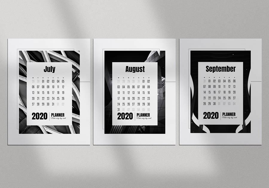 шаблон календаря бесплатно скачать чб
