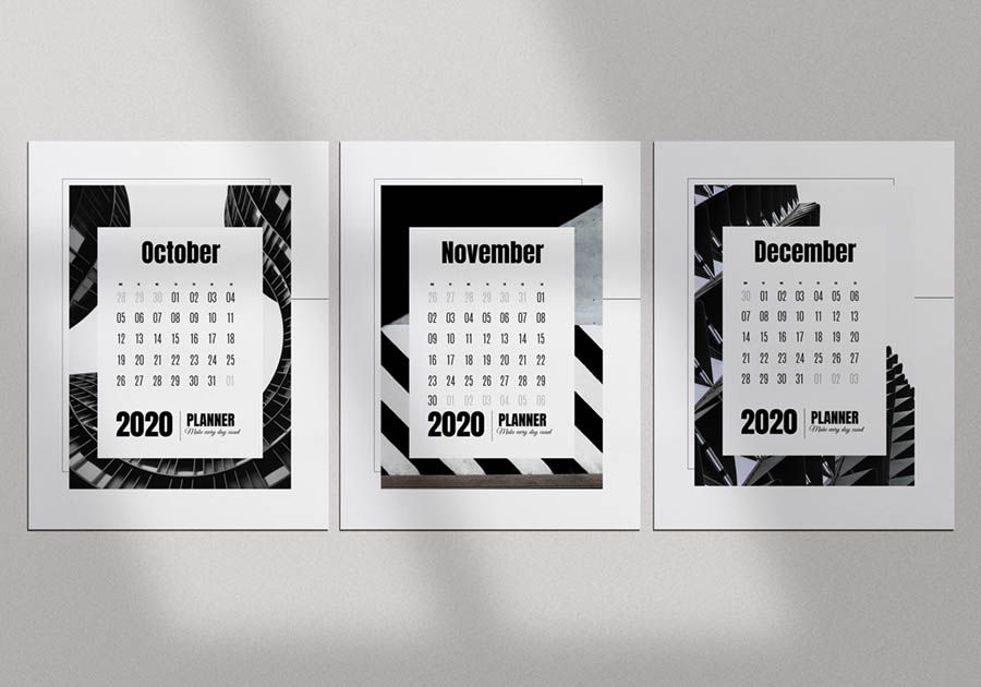 шаблон календаря бесплатно черно белый скачать архитектура фотографии