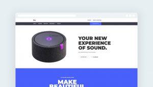 шаблон сайта html бесплатно для продукта скачать