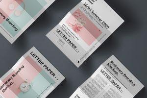 мокап лифлета брошюры в три складывания а4 psd mockup
