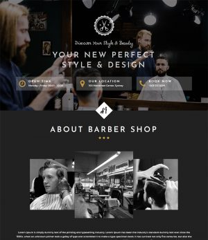 барбершоп парикмахерскаяшаблон сайта простой шаблон сайта html бесплатно скачать barbershop template