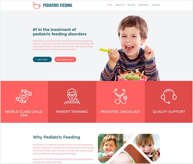 детский шаблон сайта простой шаблон сайта html бесплатно скачать