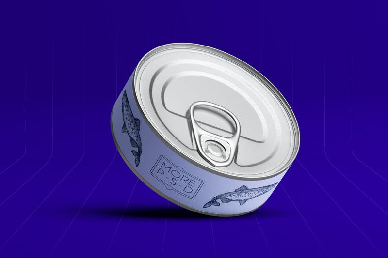 мокап жестяной консервной банки бесплатно mockup tin can free