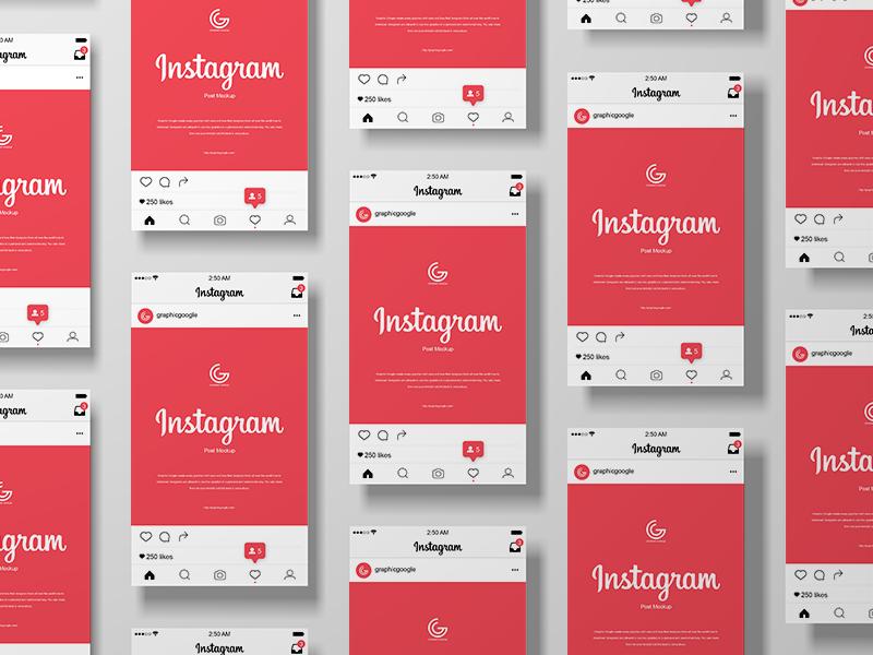 инстаграм мокап instagram mockup бесплатно скачать