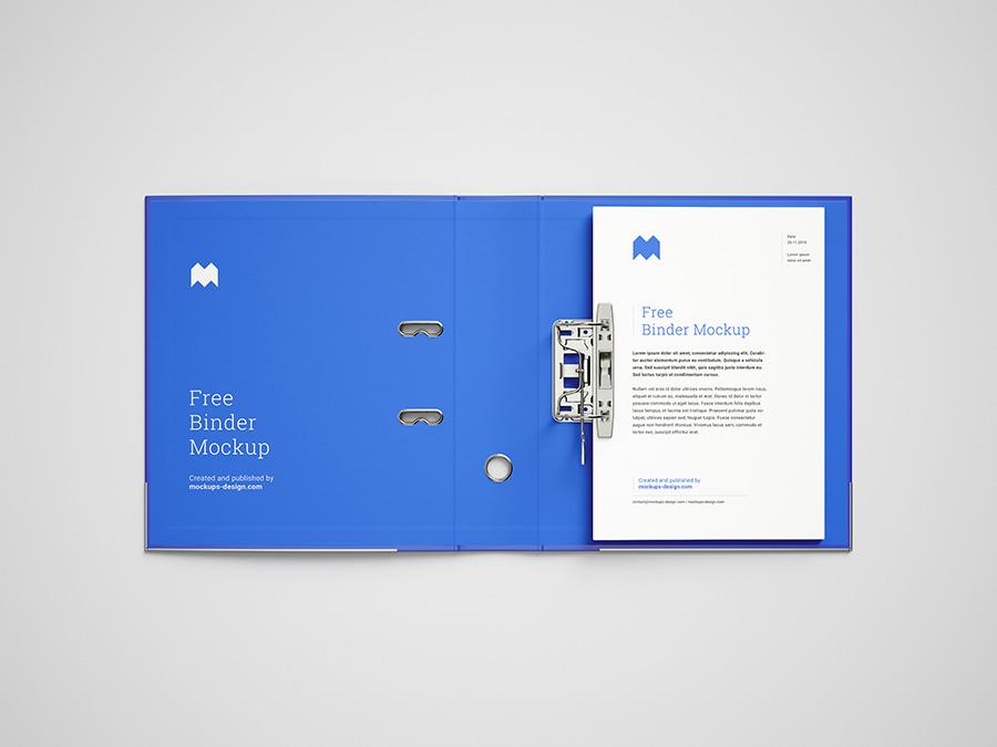 мокап скоросшивателя, папки для бумага A4 бесплатно скачать psd mockup free folder вид 2