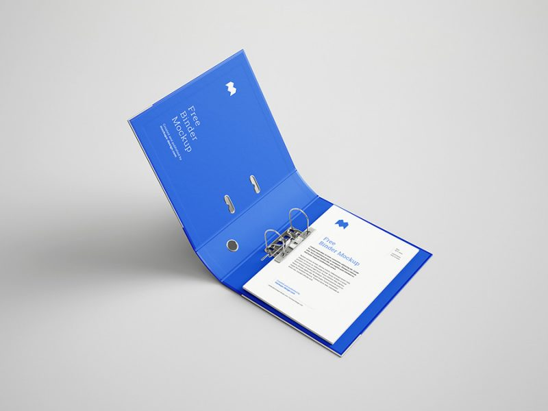 мокап скоросшивателя, папки для бумага A4 бесплатно скачать psd mockup free folder