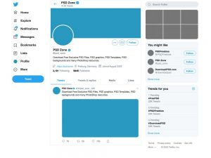 мокап twitter твиттер макап шаблон обложка аватарка соцсеть скачать psd бесплатно