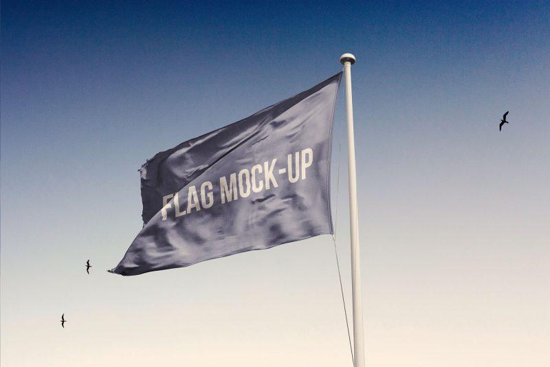 мокап флаг реализм фото mockup скачать бесплатно