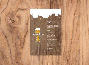 меню бара карта пивной бар шаблон menu бесплатно