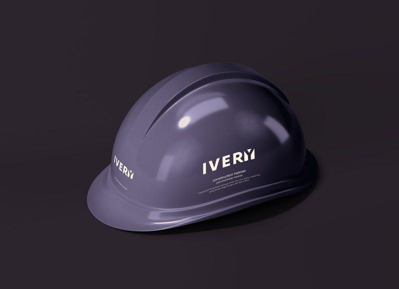 мокап строительной каски шлем mockup бесплатно helmet construction psd