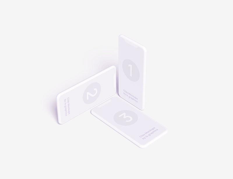 iPhone Xr мокап белый mockup макап white clay бесплатно айфон макет телефона смартфона