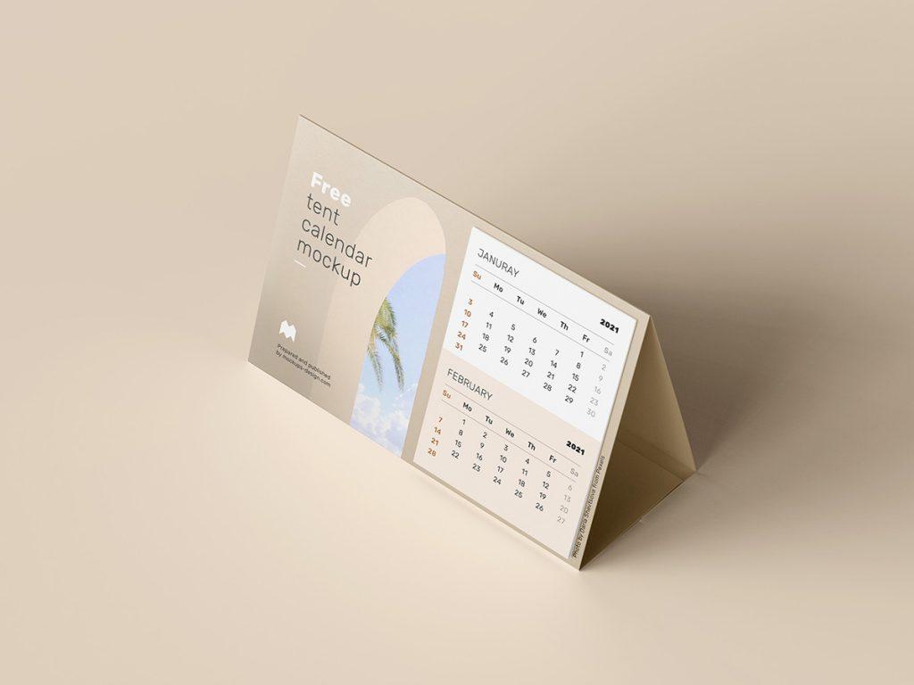 настольный календарь мокап перекидной mockup бесплатно free calendar другой ракурс