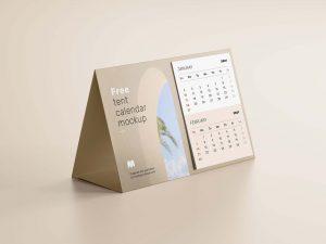 настольный календарь мокап перекидной mockup бесплатно free calendar