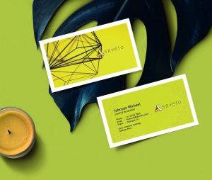 шаблон визитки природа альтернативная энергетика, психолог, зеленая, успокаивающая psd скачать