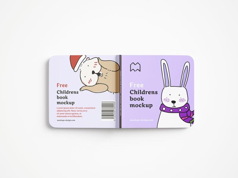 детский мокап книга разворот обложкабесплатно mockup book children free