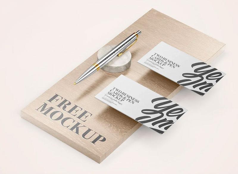 мокап визитки бесплатно скачать дерево ручка psd mockup free