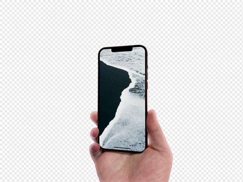 мокап телефона iPhone в руках скачать бесплатно