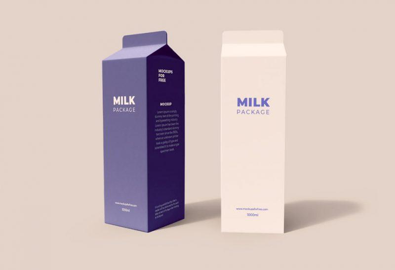 мокап упаковки молока тетра пак скачать бесплатно mockup milk шаблон