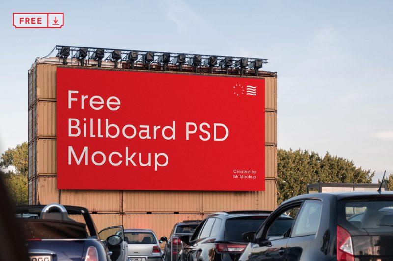 биллборд мокап рекламный бесплатно billboard free