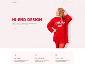 Шаблон магазина одежды, модного бренда html css готовый сайт скачать бесплатно