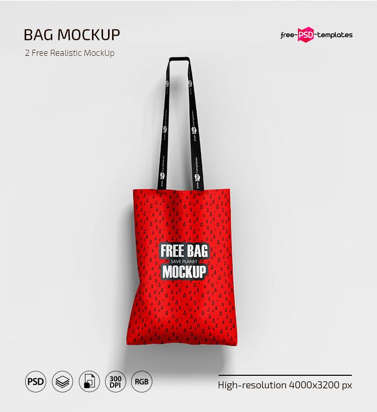 мокап сумки холщовая тканевой psd бесплатно эко